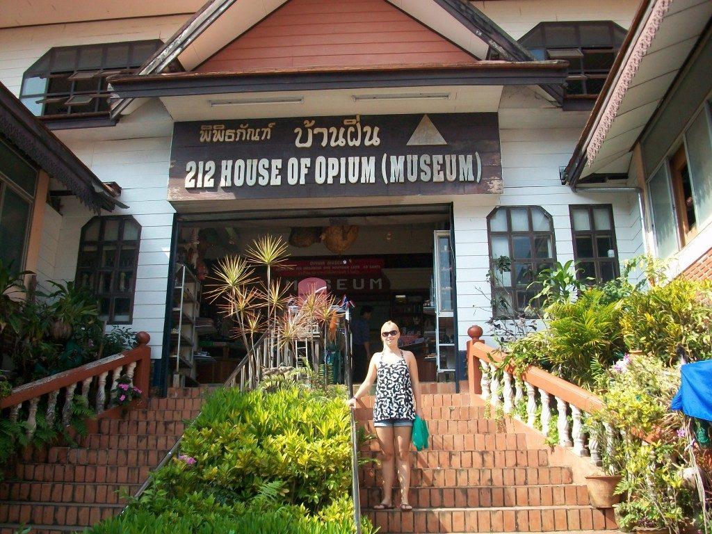 Opium museum ved den gyldne trekant Thailand