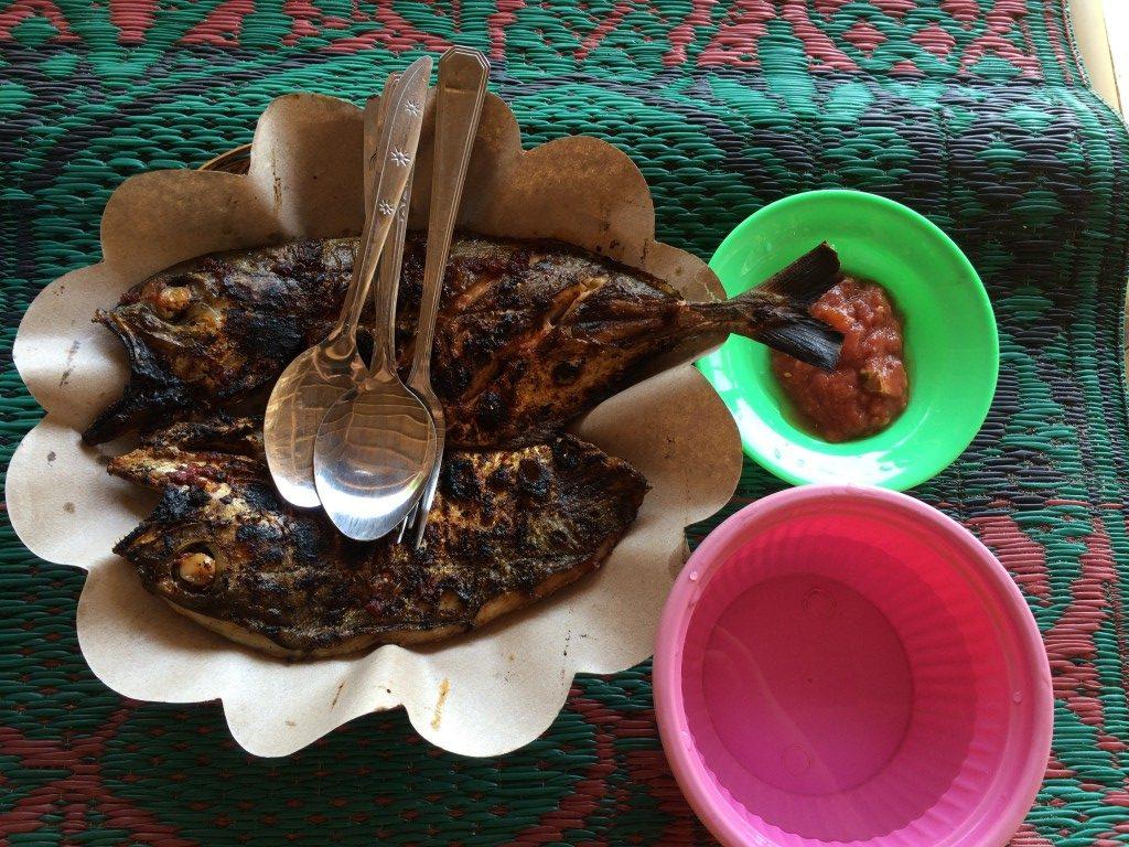 Frisk fisk på Lombok