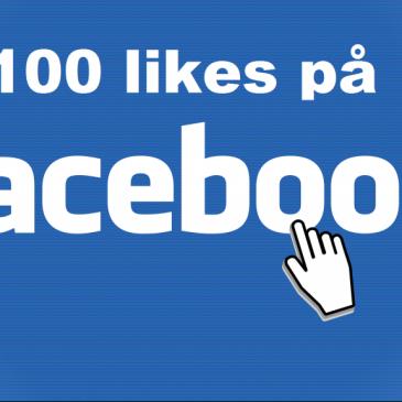 100 Likes på facebook