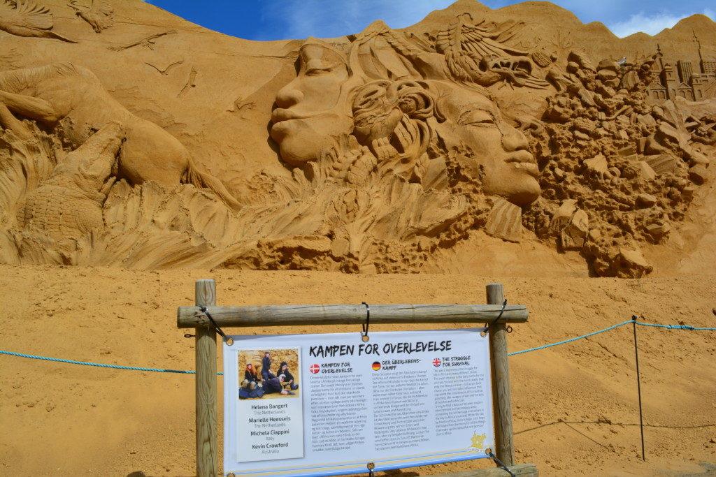 Sandskulptur festival Søndervig