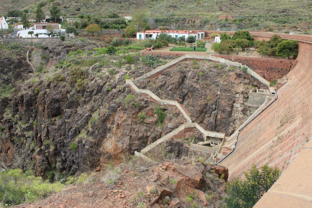 dæmningen ved  Ayagaures Gran Canaria