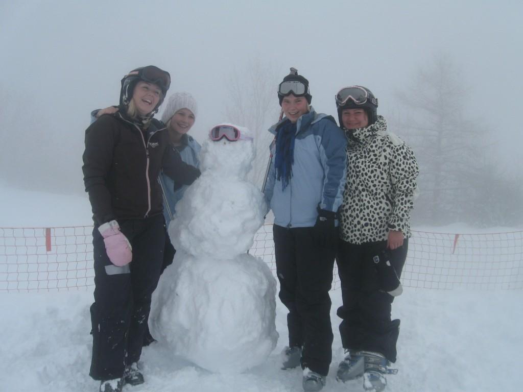på ski i Frankrig