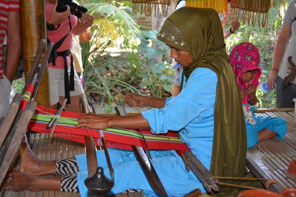 vævet tæppe Lombok
