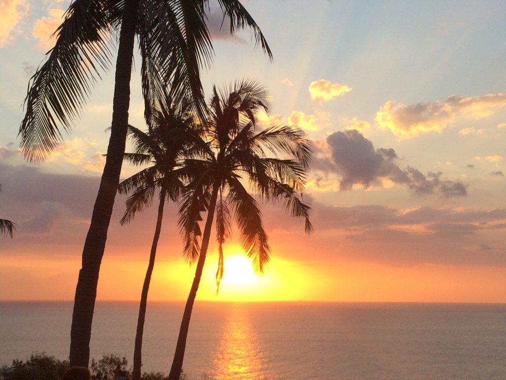 Solnedgang over Lombok