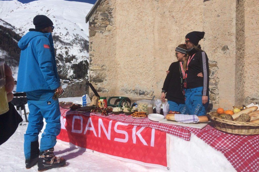 Picnis på pisten med Danski