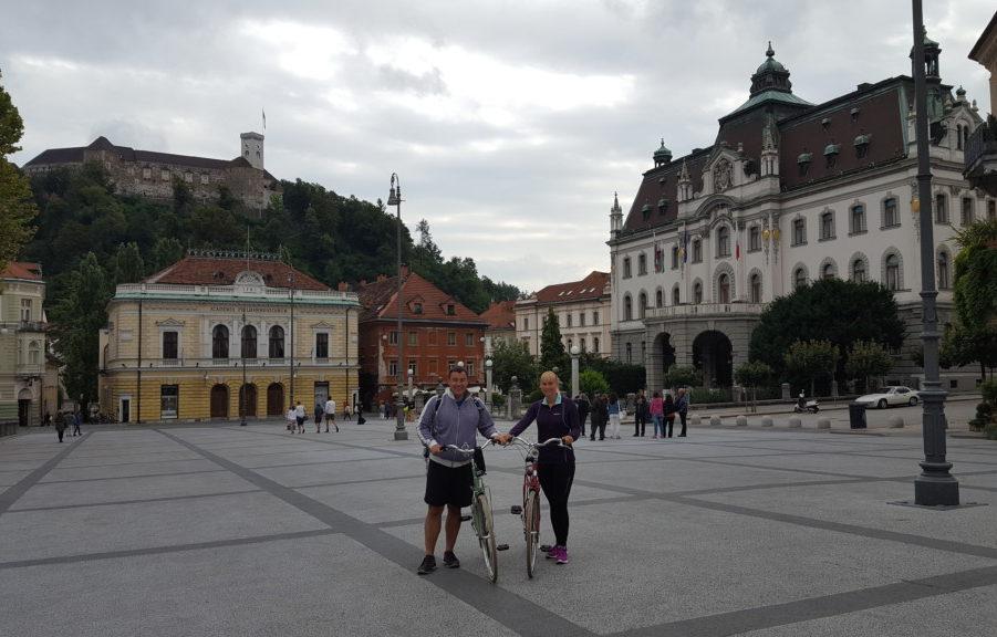 På cykeltur i Ljubljana
