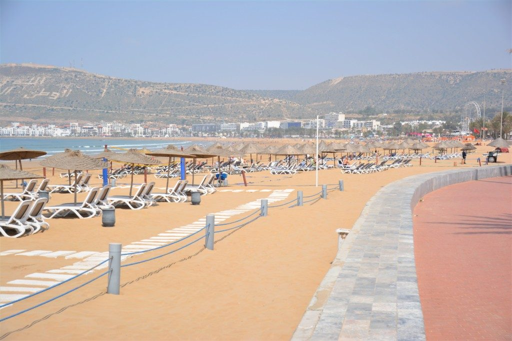 Agadir strandpromenade