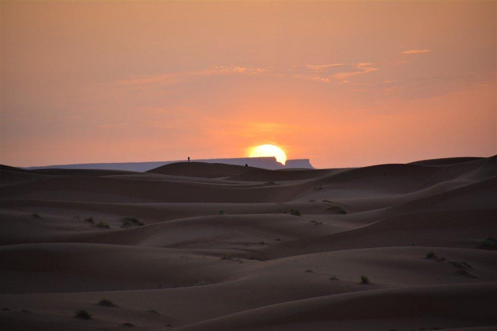 Magisk solopgang i Marokko