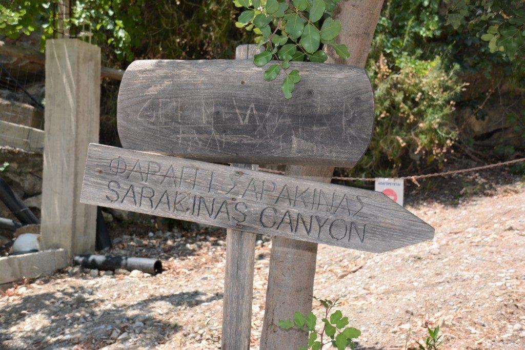 Sarakinas gorge