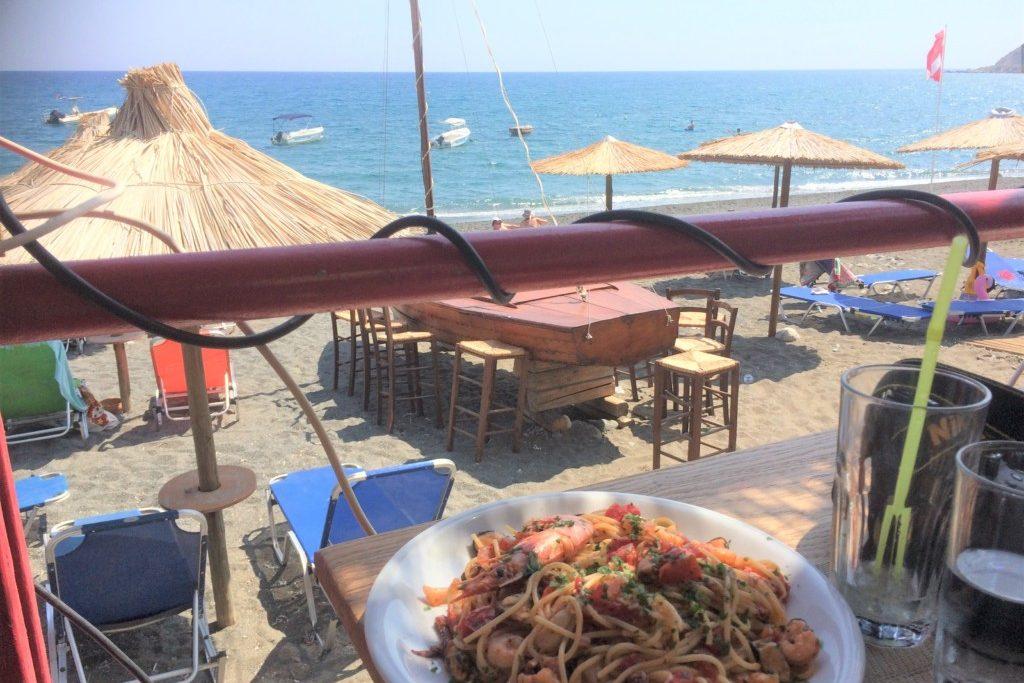 Frokost stop i Myrtos