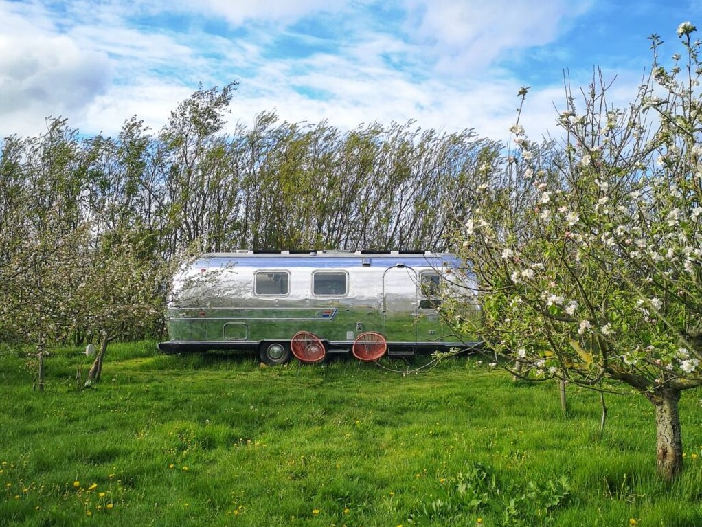 Bo i en luksus Airsteam på en dansk vingård