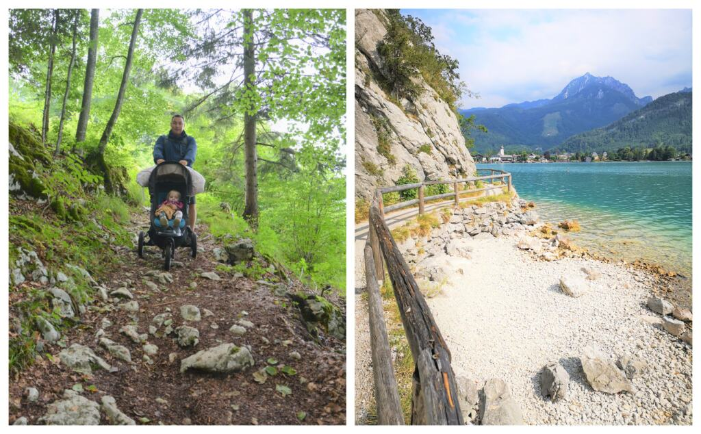 Familie vandring i Salzkammergut